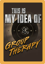 """Rivers Edge Products Tin Sign Group Therapy, Size 12"""" x 17"""", mfg 1462"""