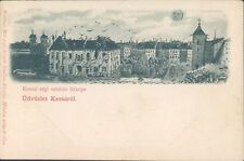 HUNGARY Üdvözlet Kassarol view litho PC 1900s