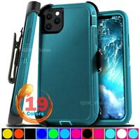 For Apple iPhone 11 / 11 Pro max Shockproof Protective Rugged Case + Belt Clip