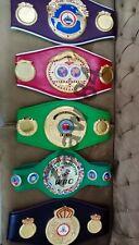 WBO IBF IBO WBC WBA Adult Boxing ChampionShip Belt Replica Set of 5 High Quality