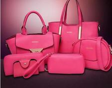 NEW 5PCS/Set Womens Pu Leather Shoulder Bag Handbag Satchel Tote Purse Briefcase