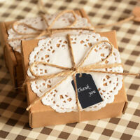 100pcs Kraft Paper Gift Card Tags Blank Label w/Twines Wedding Party Luggage