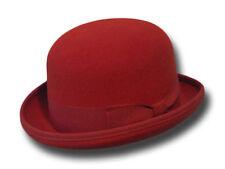 chapeau melon, bowler hat, melone hut, bombetta rouge