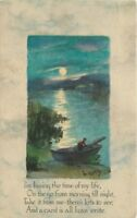 Arts & Crafts Crafts saying 1915 Tranquil Boating POSTCARD 318