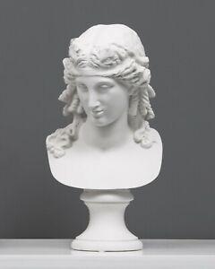 "Ariadne Bust Sculpture - Antique Statue - Female Stone Sculpture Art 31cm/ 12.2"""