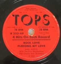 TOPS R 253-49 78 RPM record Mimi Martel Rock Love / Crazy Otto / Pledging Love