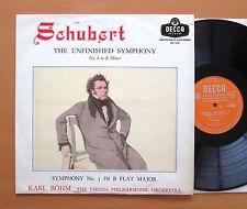 LXT 5381 Schubert sinfonia incompiuta KARL BOHM 1957 Ottimo Decca (NO stereo)