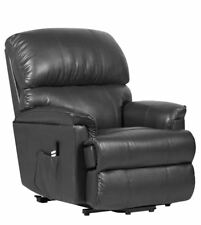 Canterbury Dual Motor Leather Electric Riser Recliner Chair Black