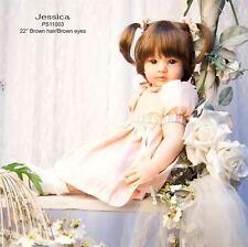 "Hot 22"" Lifelike Doll Girl Gift Jessica Handmade Vinyl Silicone Reborn Baby Doll"