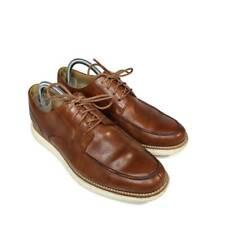 Cole Haan Lunargrand Mens Derby Shoes Brown Lace Up Split Toe Apron Oxford 8 M