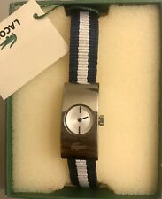 Womens Lacoste Watch Blue And White Stripes
