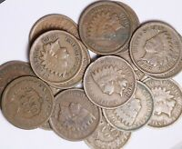 Roll Of 50 Coins Mixed 1900's Indian Head Cents Good++ FREE P/H