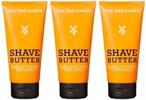 Van Der Hagen All Natural Shave Butter Ultra Moisturizing Blend 6 oz- Lot of 3