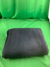 RALPH LAUREN 100% Cotton Twin Size Bed Blanket 66x90 Blue Made in USA