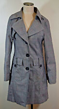 H&M Womens Houndstooth Plaid Coat Size 8 Trench Coat