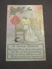 A X-MAS PRAYER Post Card BY M.G. Hays sister of Grace Drayton CAMPBELL KIDS
