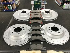 PORSCHE CAYENNE 4.8 TURBO S BRAKE DISCS DRILLED FRONT & REAR 368MM 358MM & PADS