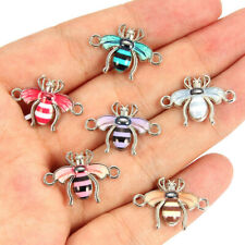 NEW Mixed Color Drop Oil Bee Animal Connectors DIY Necklace Bracelet Jewelry