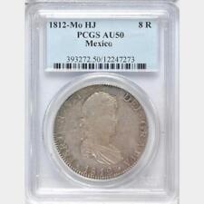 1812 HJ Mexico 8 Reales, PCGS AU 50, Scarce Assayer