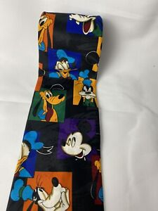 Men's Mickey Unlimited Balancine Disney Neck Tie Vintage VTG Pluto Goofey Faces
