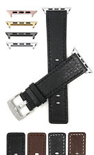 Leather Watch Strap for Apple Watch Band, Series 5 4 3 2 1, 38mm 40mm 42mm 44mm
