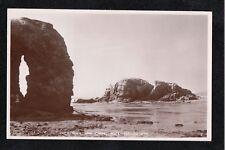 L@@K Hole Rock and Chapel Rock Perranporth 1940's ? Postcard ~ GOOD QUALITY CARD
