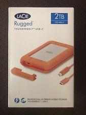 LaCie Rugged 2TB Thunderbolt USB-C 3.1 3.0 2.0 Portable Drive STFS2000800 SEALED