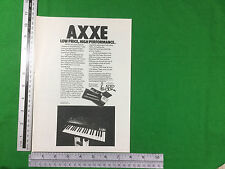 ARP Axxe keyboard synthesizer vintage advert from 1977