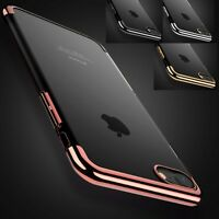Luxury Ultra Slim Shockproof Silicone Clear Case Cover for iPhone 8 6s 6 7 Plus