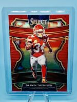 Darwin Thompson 2019 Panini Select # /99 RED PRIZM SP RC CHIEFS