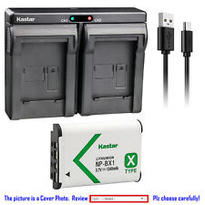Kastar Dual Charger Battery for Sony NP-BX1 BC-CSX & Sony Cyber-shot DSC-HX80