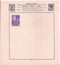 BURMA stamp on an album page.