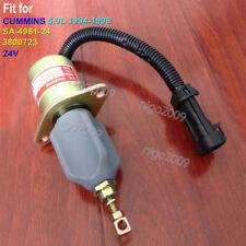SA-4981-24 24V Fuel Flameout Solenoid 1752ES RQV-K 24V for CUMMINS 5.9L 1994-98