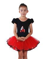 New Girls Black and Red Ballet Dance Tutu Dress 3-4 Years