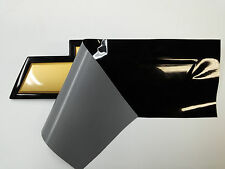 "Black Gloss Vinyl Sheets-2- 11"" x 5""- U-Cut Decals for Chevy Bowtie Emblems"