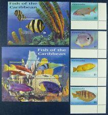 Grenada 2003 Fische Fishes Poissons Pesci Meerestiere 5297-5304 + Block 709 MNH