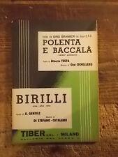 """SPARTITO BRAMIERI """"POLENTA E BACCALA' """" + """"BIRILLI"""""""