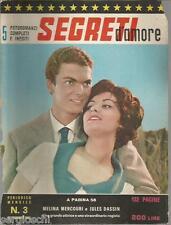 FOTOROMANZI SEGRETI D'AMORE# 3 - SETTEMBRE 1962-MELINA MERCOURI E JULES DASSIN