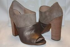 NEW BELLE by SIGERSON MORRISON Dune Suede Pewter BEETLE Peep Toe Booties 10 $295