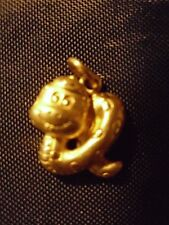 9999 Solid Pure 24k Gold Chinese Lunar ZodiacYear Of The Snake Pendant 4.5 Gr !