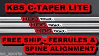 *NEW* KBS C TAPER LITE .355 SHAFTS- YOU PICK CONFIGURATION -- REGULAR REG R FLEX
