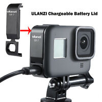 1x ULANZI Chargeable Battery Lid Cover G8-7 for GoPro Hero Black 8 Sports Camera