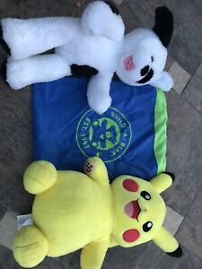 Build a Bear  Pokemon Pikachu, dog  & Bag