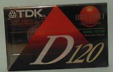 TDK D120 low noise  Blank Cassette Tape Audio Brand New & Sealed