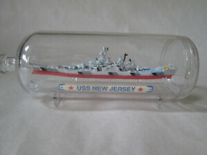 Micro Machines Ship in a Bottle #8 USS New Jersey Ship #7410 Galoob 1990