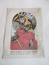 Record Store Day  Back To Black Friday 11.29.13 Poster Promo Only 11 X 15 NEW