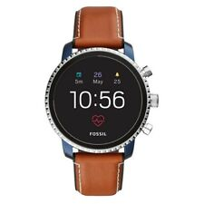 Fossil Q Explorist HR Smart Watch (Blue/Tan Leather)