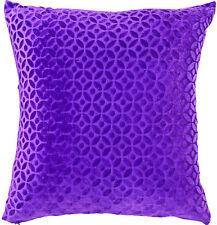 "16"" Purple Velvet Cushion Cover Pillow Case Sofa Throw Indian Ethnic Decorative"