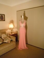Designer Madison James Ladies Pink Sequin Formal/Evening/Event Gown Size 8