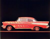 Chevy Bel Air 1957 Vintage Classic Car Wall Decor Art Print Picture (8x10)